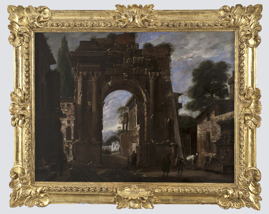 Arco trionfale con figure viviano codazzi pittura arte for Portale camera
