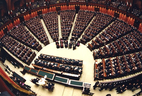 Visita di sua santit giovanni paolo ii al parlamento for Camera dei deputati diretta tv