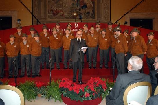 Concerto della coralit di montagna 20 dicembre 2007 for Camera dei deputati archivio storico