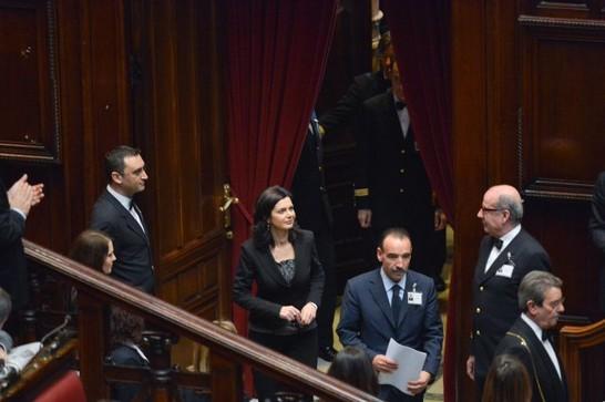 Discorso Camera Boldrini : Elezione ed insediamento della presidente della camera dei deputati