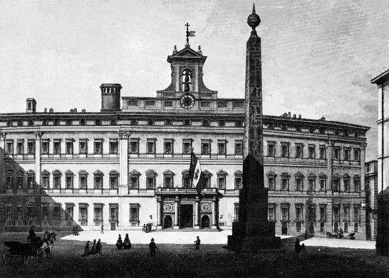 I1 palazzo di Montecitorio con il tricolore / Stampe e ...