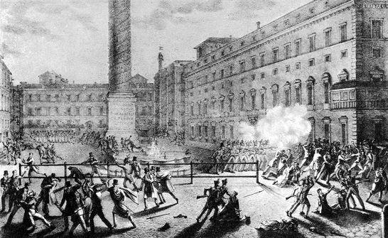 La notte del 12 febbraio 1831 in piazza colonna stampe e for Piazza montecitorio 12