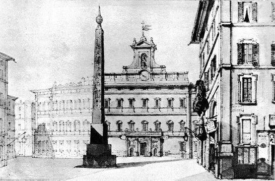 Veduta della piazza di montecitorio stampe e dipinti del for Montecitorio oggi